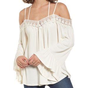 Boho Off the Shoulder Crochet Top